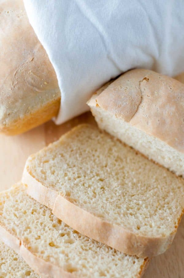 Easy English Muffin Bread is a quick and easy introduction to yeast bread making. It only requires one rise, so you'll be enjoying delicious homemade bread in no time at all! http://www.mamagourmand.com